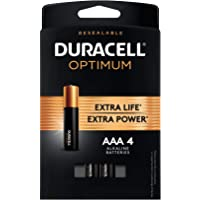 Duracell Optimum AAA Batteries | 4 Count | Long Lasting Double A Battery | Battery Alkaline AA
