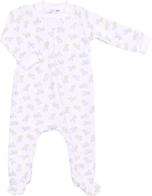 Magnolia Baby Unisex Baby Hearts and Stars Footie Silver