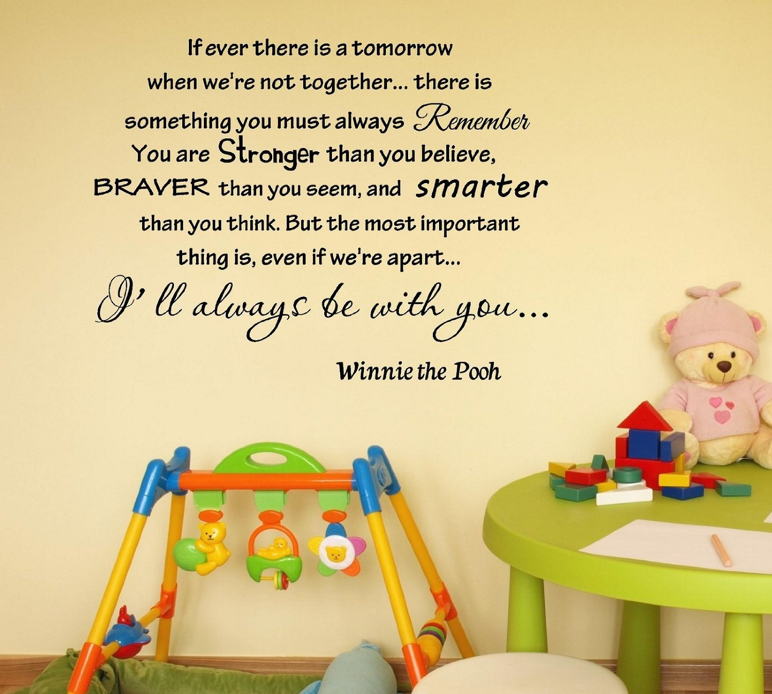 Newsee Decals If Ever There Is Tomorrow When Weu0027re Not Together...   Winnie  The Pooh Vinyl Wall Art Inspirational Quotes And Saying Home Decor Decal ... Part 94