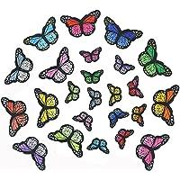 24 Pleisters Voor Kinderen Opstrijkbare Patches Sticker Diy Patches Stickers Vlinders Sew-On Diy Kleding T-Shirt Patches…