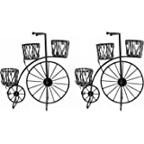 NUHA Set of 2- Cycle Style Stand Planter,Bicycle, Garden Pot, Garden Decoration, Home Decor, Return Gift, Gifting, Birthday