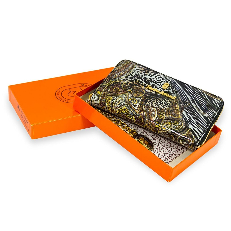 Marino Orlandi Italian Designer Jungle Metallic Glitter Leather Ziparound Wallet Clutch by Marino Orlandi (Image #4)