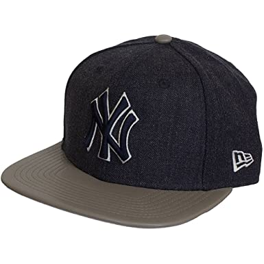 New Era 9Fifty New York NY Yankees MLB Tamaño Orig Azul Marino Heather Mix Snap Snapback Gorra de beisbol Tamaño Pequeña / Medio: Amazon.es: Ropa y ...