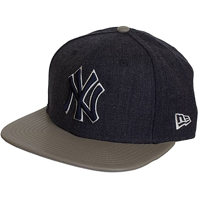 New Era 9Fifty New York NY Yankees MLB Fit originale Blu Marino Heather Mix  Snap Snapback b02092cd8564