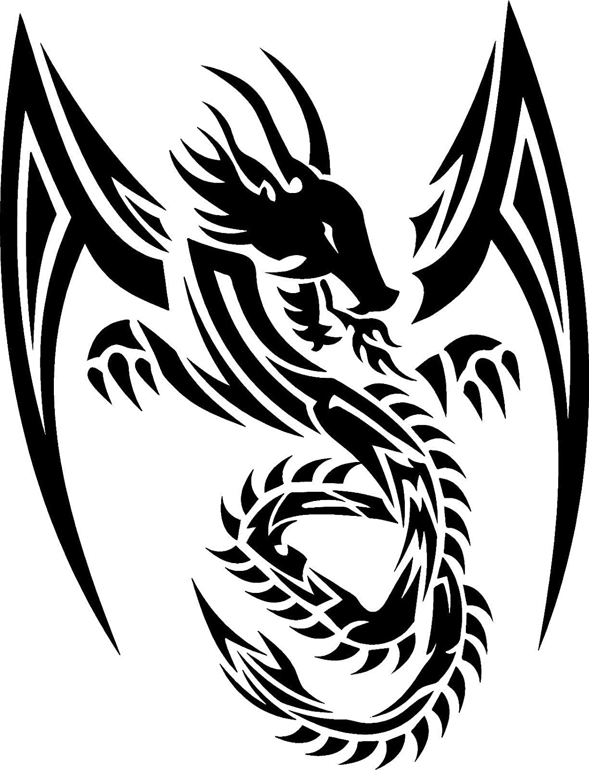 Dragon sticker decal can do any color messsage me all of our stickers and decals can be made yeti cup size to at least back glass vehicle size