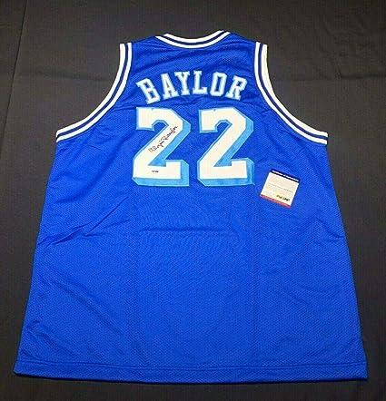 88e54633a872 Elgin Baylor Signed Jersey - Blue  HOF 6A43423 - PSA DNA Certified -  Autographed