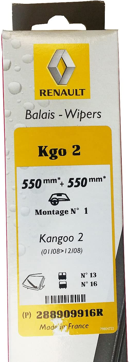 Pour RENAULT KANGOO//GRAND KANGOO KW0//1 MPV Aero Vu Avant Pare-brise Balais d/'essuie-glace