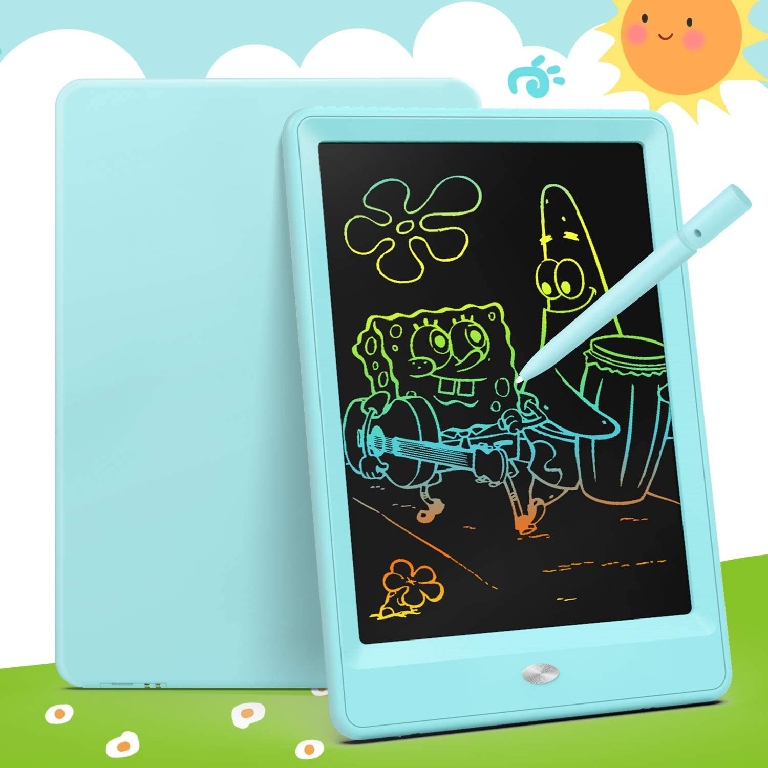 Educational /& Learning Gifts Toys for 2-6 Years Old Girls Boys Electronic Drawing Tablet 15 Inch Colorful Toddler Doodle Board LCD-Writing-Tablet Erasable Reusable Electronic Writing Pads Black