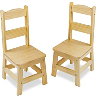 Melissa U0026 Doug Solid Wood Chairs, Set Of 2   Light Finish Furniture For  Playroom