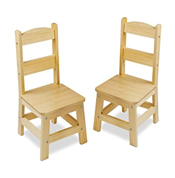 Gentil Amazon.com: Melissa U0026 Doug Solid Wood Chairs, Set Of 2   Light Finish  Furniture For Playroom: Melissa U0026 Doug: Toys U0026 Games