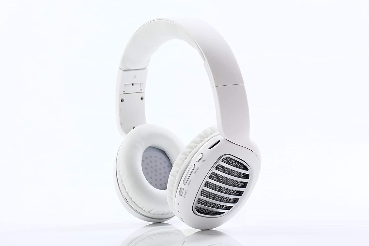 Bluetooth Headphones, Noise Canceling Wireless Light Weight Headphones Over Ear with Mic (White)