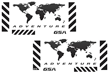 Amazon the pixel hut gs00002b bmw gsa adventure motorcycle the pixel hut gs00002b bmw gsa adventure motorcycle reflective decal kit quotworld adventure mapquot gumiabroncs Image collections