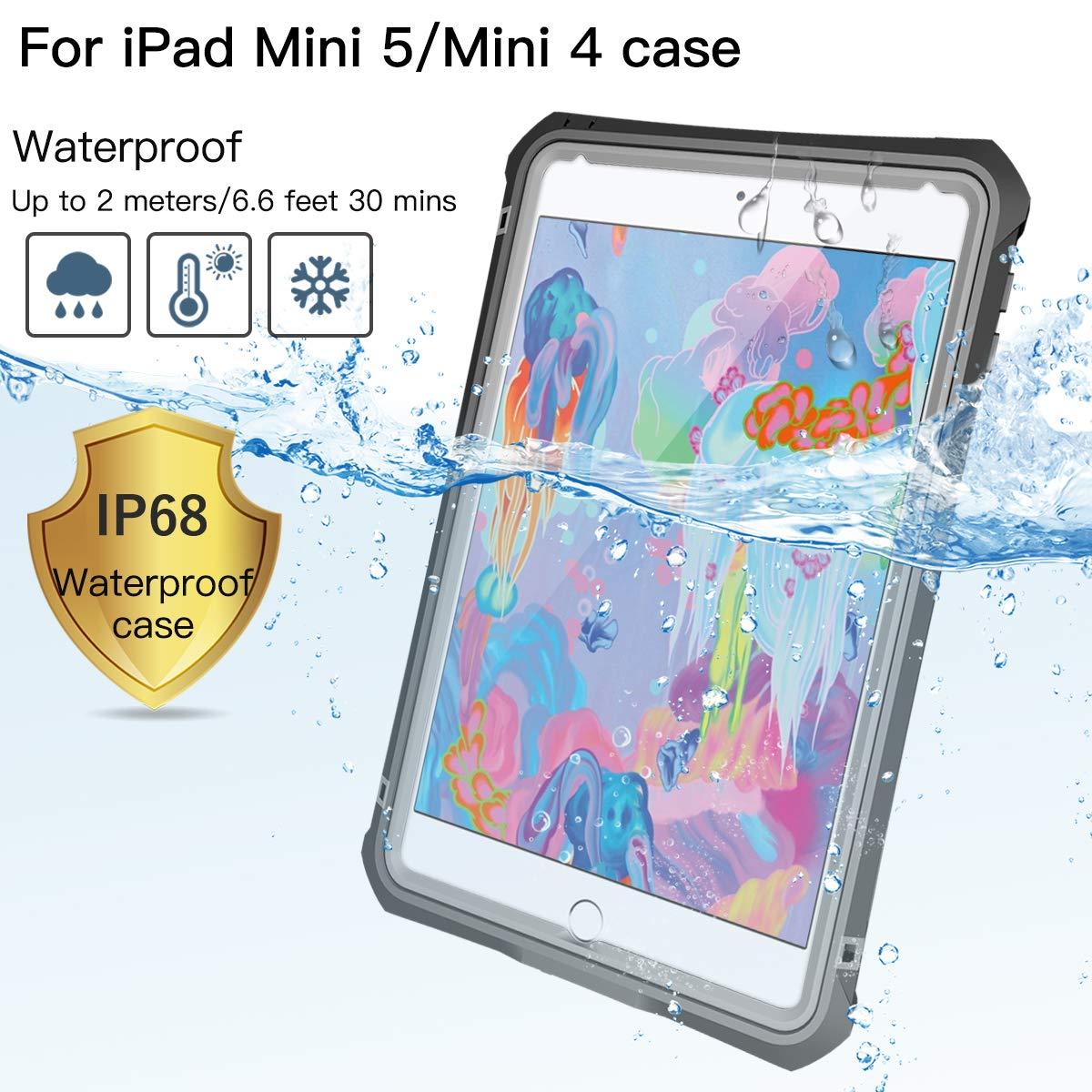 iPad Mini 5 Case MOMOTS iPad Mini 5 IP 68 Level FullBody Protective with Builtin Screen Protector