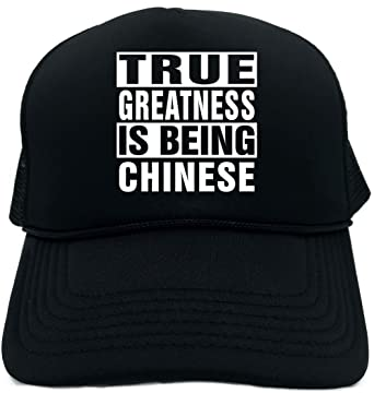 fa41e642298 Signature Depot Funny Trucker Hat (True Greatness Is Being Chinese) Unisex  Adult Foam Cap
