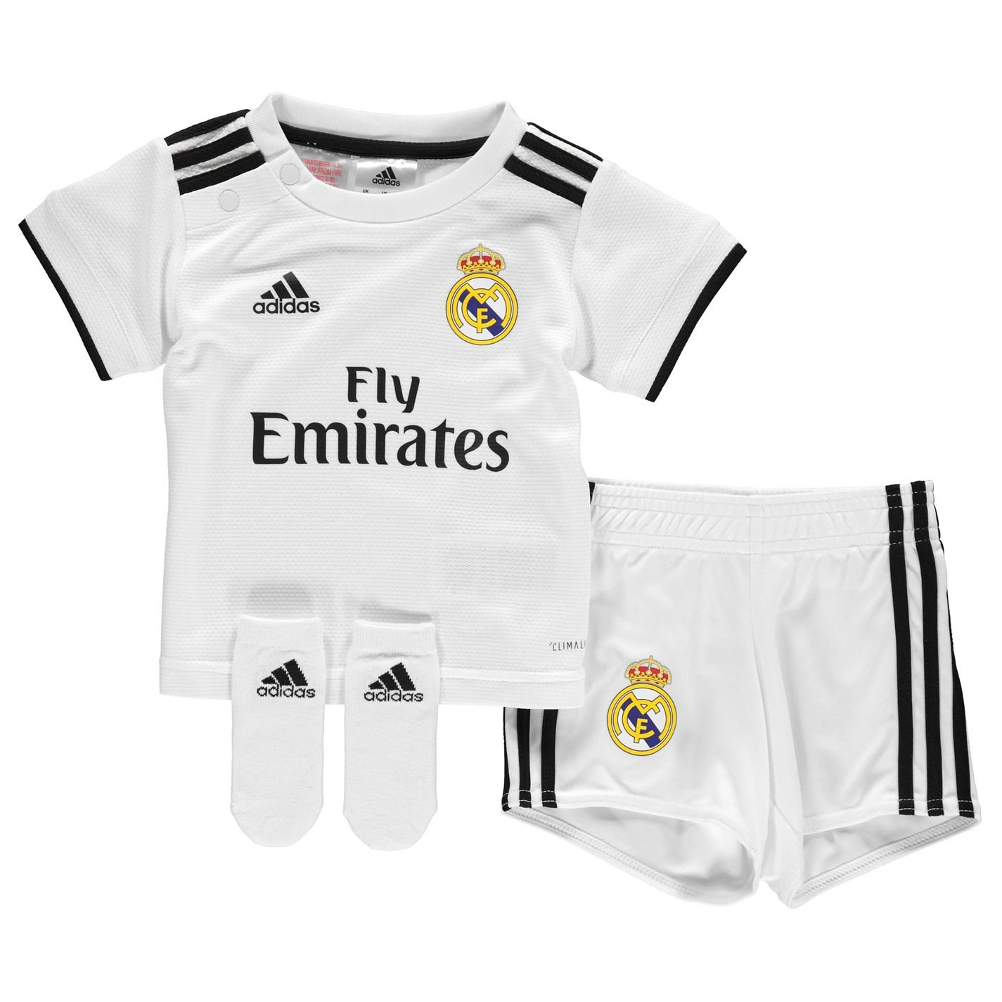 eb3bcbf46 Amazon.com   adidas 2018-2019 Real Madrid Home Baby Kit   Sports   Outdoors