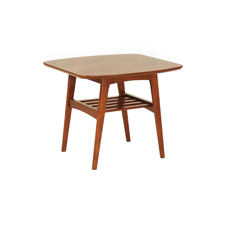 Euro Style Carmela Walnut Finish Side Table