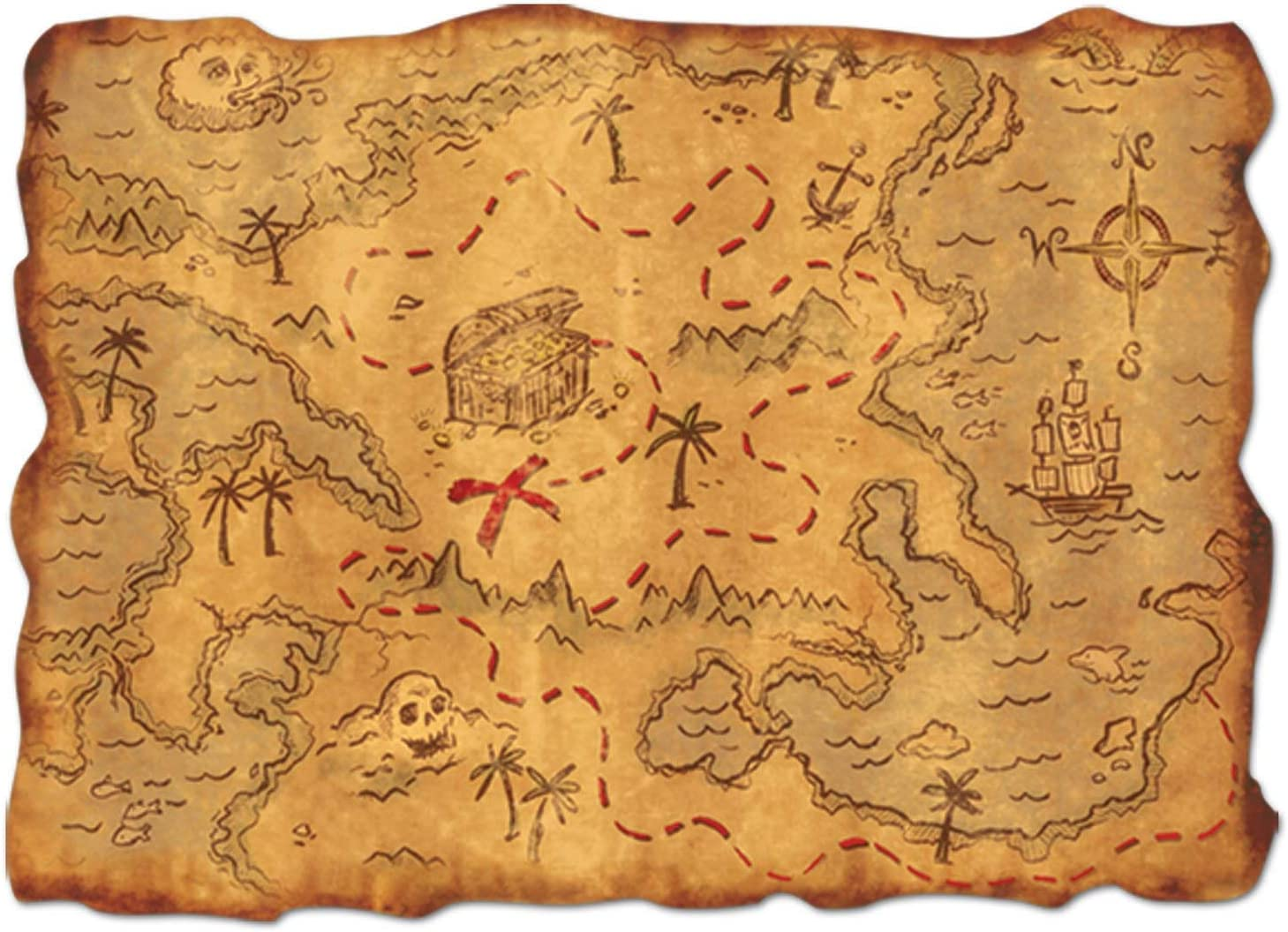 Beistle Plastic Treasure Map Party Accessory (1 Count) (1/Pkg ...