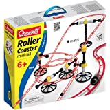 Quercetti Skyrail Mini Rail Rollercoaster - 150 Pc Marble Run with 26 Feet of Track - Building Fun Incorporates  Principles of Physics (Made in Italy)