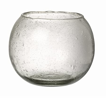 Clear Bubble Glass Bowl Round Flower Vase Large Amazon