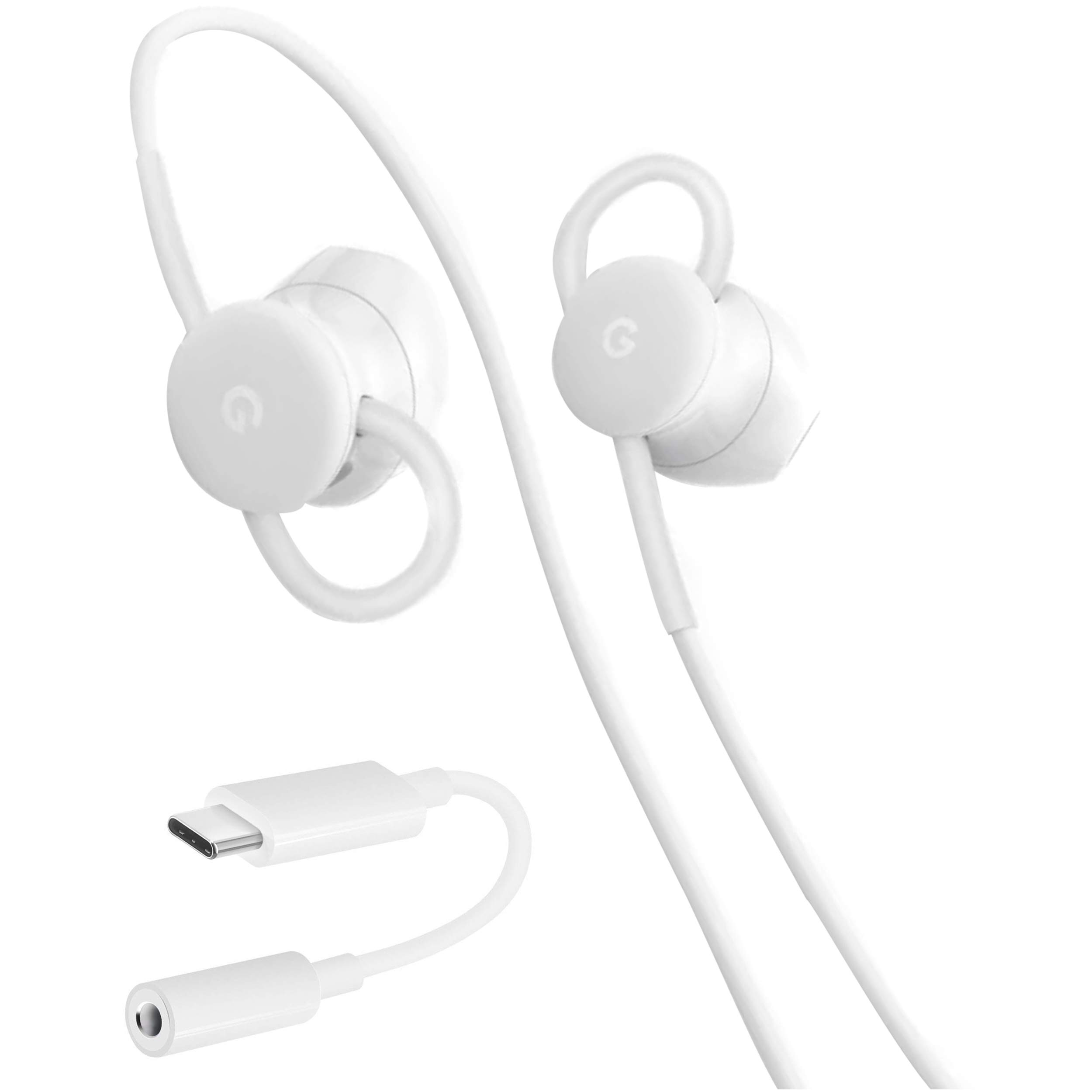 USB-C Earbuds, USB-C to 3.5mm Adapter, USB-C to USB 3.0 Adapter, for Google Pixel Devices - Accessory Combo Kit by Phihong Technology co. (Image #3)