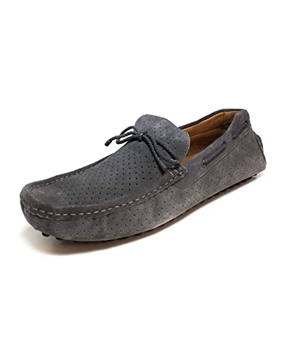 fe246807fb6 Zara Men s Grey die-Cut Leather Moccasins 2659 302  Amazon.co.uk ...