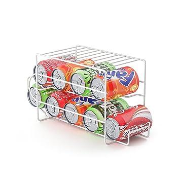 Balvi Dispensador latas Basics Color Blanco Capacidad 9 latas Ideal para la Nevera Metal: Amazon.es: Hogar