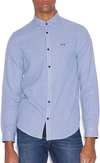 AX ARMANI EXCHANGE - Camisa Casual - para Hombre: Amazon.es: Ropa y accesorios