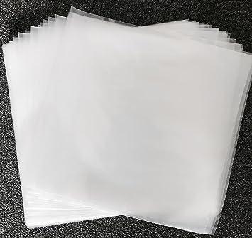 Discos de Vinilo de 17,8 cm/12 pulgadas 450 G Fundas de polietileno Calidad Premium Pack de 100