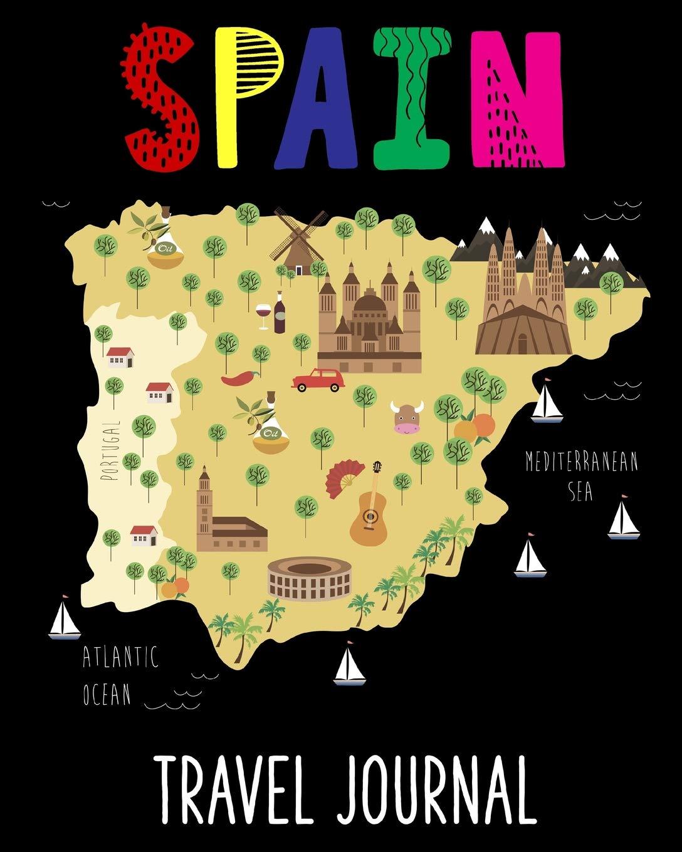Kids Map Of Spain.Spain Travel Journal Kids Travel Keepsake Journal Vacation Diary