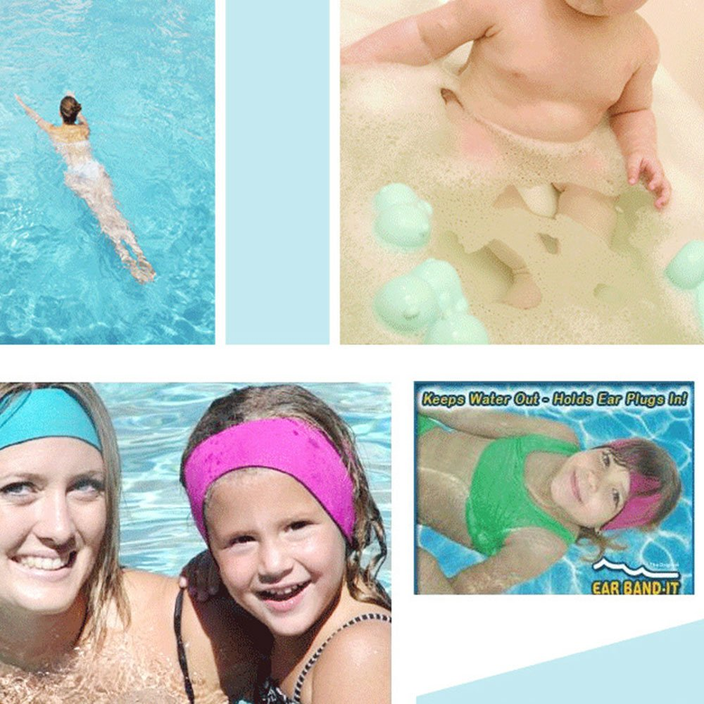 Ear Band Swimming Headband Ear Head Protector Strap for Unisex Children Adult LM