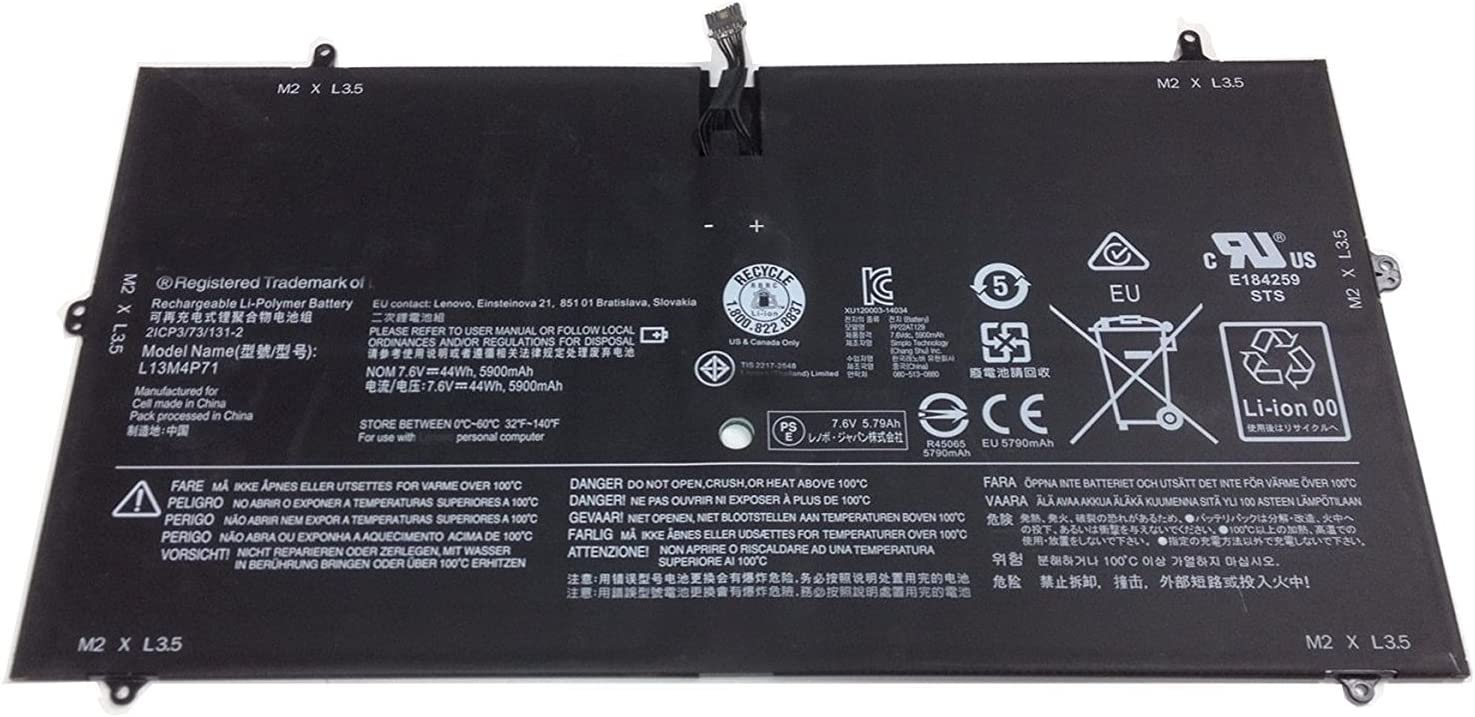 FLIW L13M4P71 TReplacement Battery Compatible with Lenovo Yoga 3 Pro 1370 Series Batteries 7.6V 44Wh 5900mAh