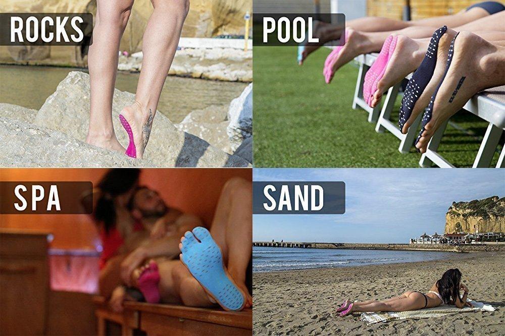Unsichtbare Schuhe Non-Slip Beach Stilvolle Anti-Skid Isolation Isolierte Einlagen Sommer Wie barfu/ß bevorzugt TTD 3Pairs 6 Feet