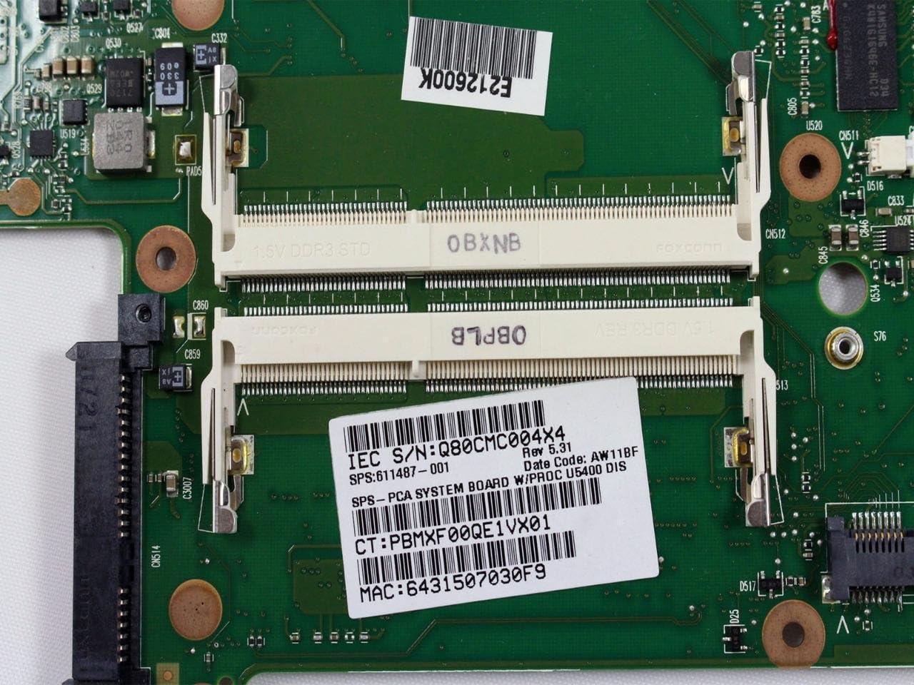 HP Touchsmart TM2-2100 Intel Laptop Motherboard SU5400 1.2GHz CPU 616627-001