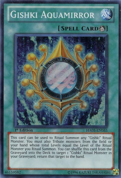 YuGiOh Gishki Aquamirror Near Mint HA05-EN055-1st Edition