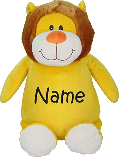 Amazon Com Personalized Stuffed Lion With Embroidered Name Toys