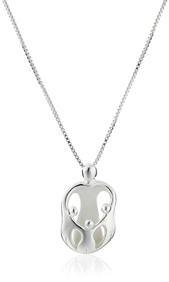 Amazon sterling silver loving family mother with three children sterling silver loving family mother with three children pendant necklace aloadofball Images