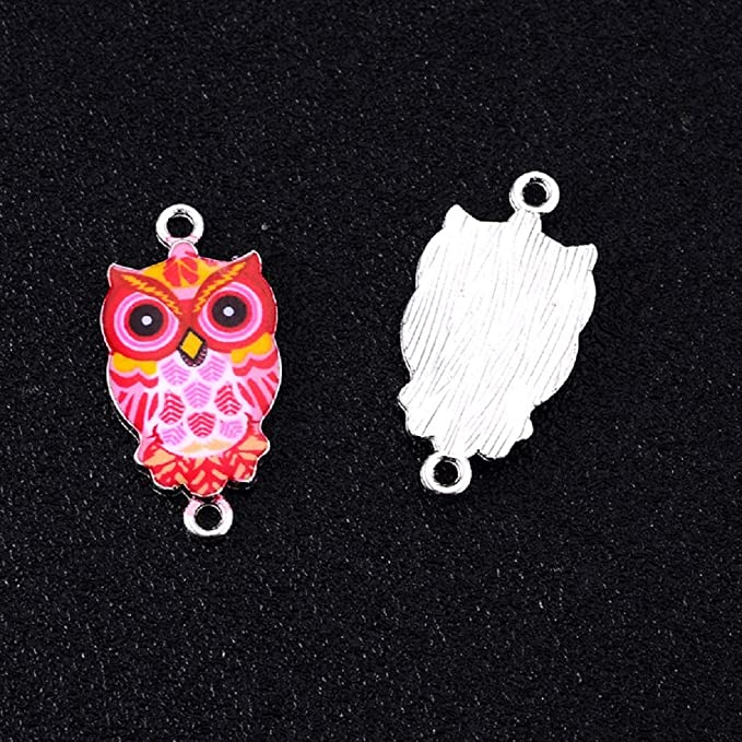 520pcs Stainless Steel Owl silver Color Pendants Making DIY Handmade Finding Jewelry For Bracelet 23X20MM