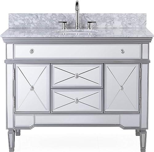 44 All-Mirrored Reflection Austin Bathroom Sink Vanity Model N-755W