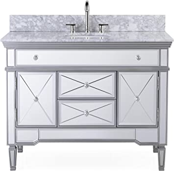 44 All Mirrored Reflection Austin Bathroom Sink Vanity Model N 755w Outdoor And Patio Furniture Sets Amazon Com