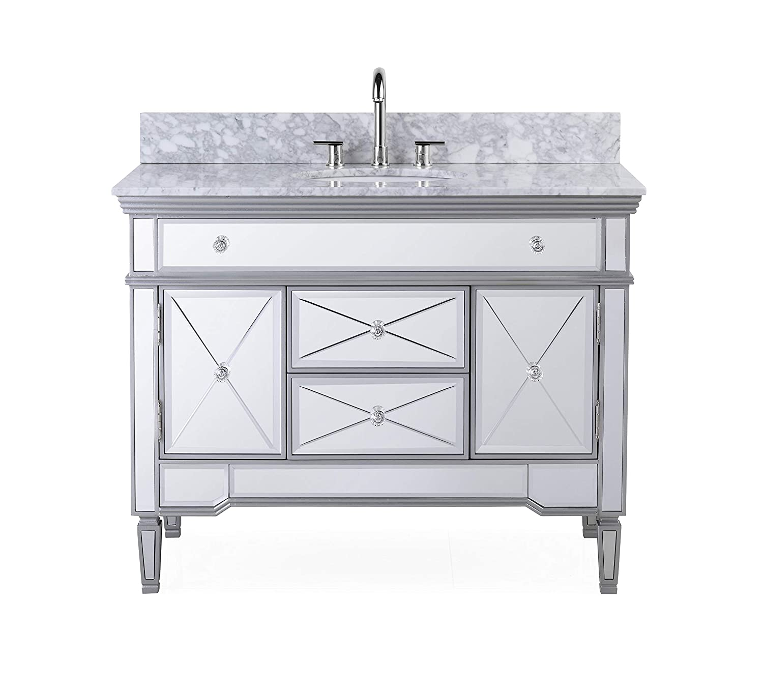 44 All-mirrored reflection Austin Bathroom sink vanity Model N-755W