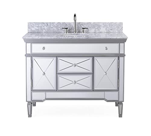 Blossom Sydney 48 inches Double Bathroom Vanity Ceramic Sink with Mirror Solid Wood Espresso 001 48 02D