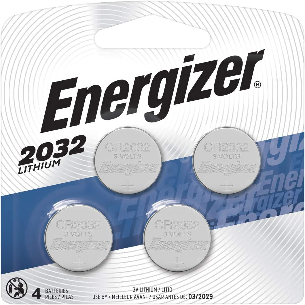 Energizer 2032 Batteries 3V Lithium, (4 Battery Count) Replaces BR2032, DL2032, ECR2032 - Packaging May Vary