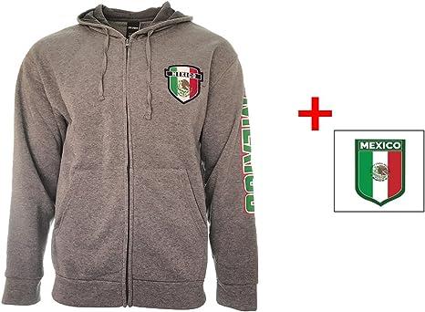 Bandera de México con cremallera chaqueta sudadera con capucha Logo Gris adultos nueva temporada y pegatina para equipo de fútbol, gris: Amazon.es: Deportes y aire libre