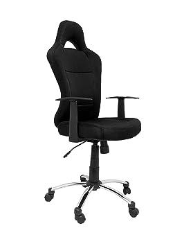 Piqueras Y Crespo 7214NE - Silla de gaming con mecanismo basculante, color negro: Amazon.es: Oficina y papelería