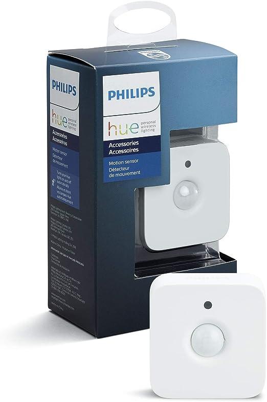 Philips Hue Hue Sensor de Movimiento, Enciende las Luces con Detección de Presencia, Compatible con Control por Voz, Blanco
