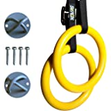 Gymnastic Rings Olympic Home Gym Exercise Equipment | Advanced Free Body Weight Training | Improve Fitness Balance & Strength | Adjustable Straps & Mounting Hooks Included