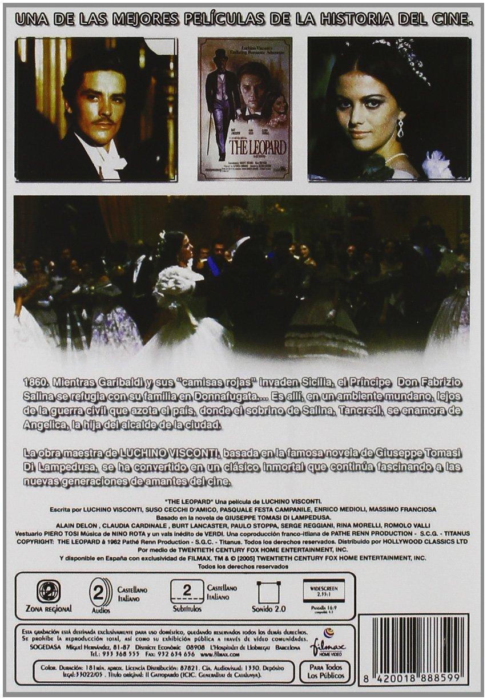 El Gatopardo [DVD]: Amazon.es: Burt Lancaster, Alain Delon, Claudia Cardinale, Paolo Stoppa, Rina Morelli, Romolo Valli, Pierre Clémenti, Leslie French, ...