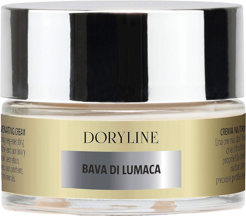 DORYLINE Crema Facial PROFESIONAL de Baba de Caracol 50ml, Antiarrugas Excepcional 100% Made in Italy, Crema Nutritiva e Hidratante para Rostro Cuello ...