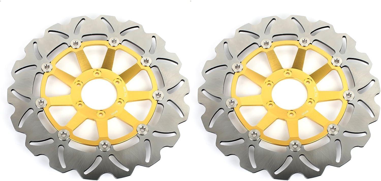 TARAZON Front Rear Brake Rotors Discs for Honda CBR1100XX CBR1100 XX Blackbird 99-08 X-11 X-Eleven 00-04