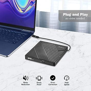 Amazon.com: Rioddas Unidad externa CD tipo C USB 3.0 ...